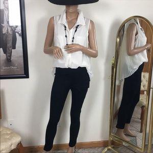 Bcbg White Pleated blouse